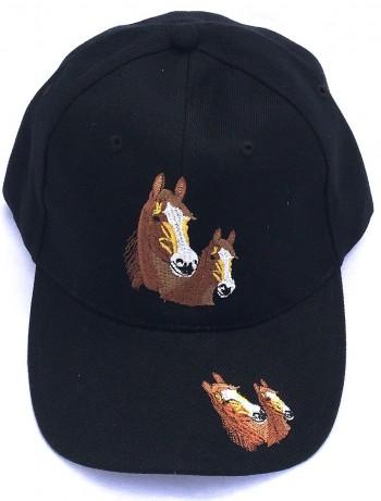 ZWEKK Cap mit Pferdemotiv Farbe schwarz