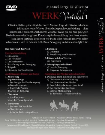 Vorbestellbar: DVD Manuel Jorge de Oliveira  - Vertikal 1 - DER FILM (Mit kostenfreiem Download des Vorschau-Clip )