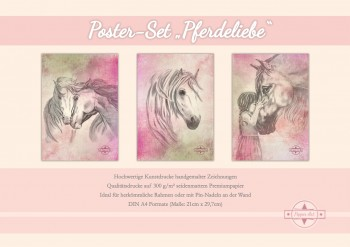 Posterset Pferdeliebe - Pepper Art