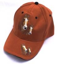 ZWEKK Cap mit Pferdemotiv Farbe Kupfer