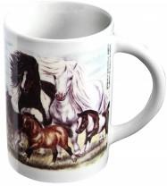 Sammler-Keramik-Tasse mit Pferdemotiv Catch Me