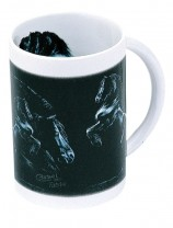Sammler-Keramik-Tasse mit Pferdemotiv Friesen