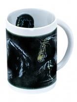 Sammler-Keramik-Tasse mit Pferdemotiv Dressur