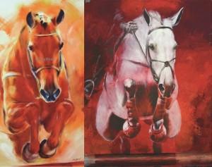 """2 Kunstdrucke Thomas Aeffner """"Grey"""" & """"Springpferd"""" im Set AKTIONSPREIS"""
