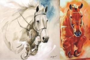 """2 Kunstdrucke Thomas Aeffner """"Fly High"""" und """"Springpferd I"""" im Set AKTIONSPREIS"""