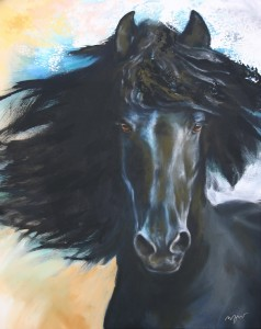 "Kunstdruck Thomas Aeffner: ""Black Beauty"" AKTIONSPREIS"