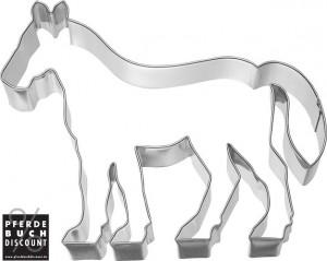 Plätzchen und Keks Ausstechform Pferd 11,6 cm - Edelstahl