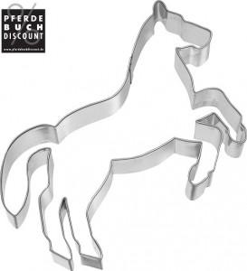 Plätzchen und Keks Ausstechform Pferd steigend - Edelstahl