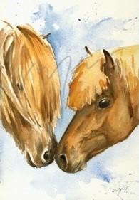 Kunstpostkarte Freundschaft Thomas Aeffner