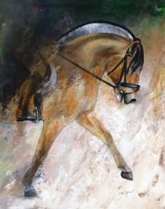 Leinwanddruck Thomas Aeffner:  Fjordpferd 80 x 100 cm