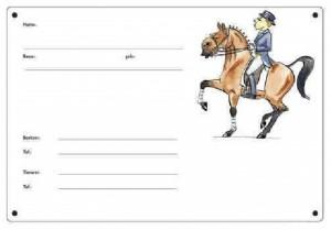 Boxenschild - Dressurpferd