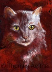 Kunstdruck Thomas Aeffner:  Katze