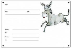 Boxenschild - Esel - Maultier