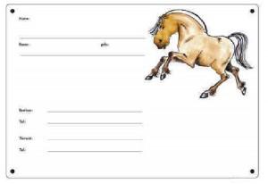 Boxenschild Norweger - Fjordpferd