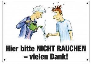 Schild - Rauchen verboten