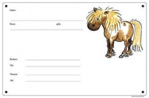 Boxenschild Motiv Pony - Shetty