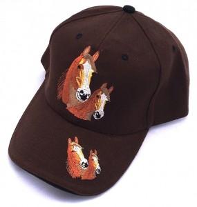 ZWEKK Cap mit Pferdemotiv Farbe Braun