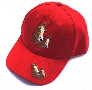 ZWEKK Cap mit Pferdemotiv Farbe Rot
