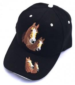ZWEKK Cap mit Pferdemotiv Farbe schwarz/weiss