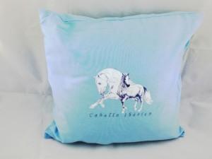"""Kissen mit Pferdemotiv """"Caballo Iberio""""  inclusive Füllung 40 x 40 cm"""