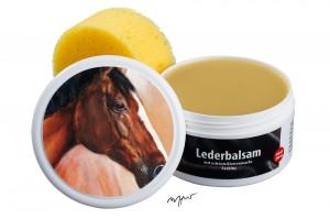 Zwekk© - Leder-Pflege-Set Leder-Balsam 250 ml Pferdemotiv Sam