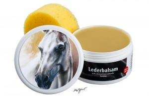 Zwekk© - Leder-Pflege-Set Leder-Balsam 250 ml Pferdemotiv Araber