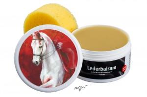 Zwekk© - Leder-Pflege-Set Leder-Balsam 250 ml  Pferdemotiv Eleganz