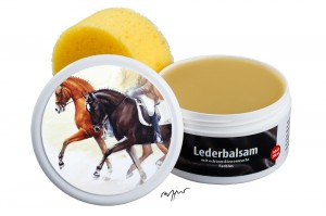 Zwekk© - Leder-Pflege-Set Leder-Balsam 250 ml Pferdemotiv Charly & Liquido