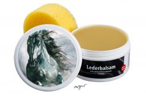 Zwekk© - Leder-Pflege-Set Leder-Balsam 250 ml Pferdemotiv Friesenpferd Ritske
