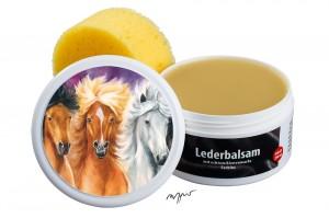 Zwekk© - Leder-Pflege-Set Leder-Balsam 250 ml Pferdemotiv 3 Islandpferde