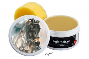 Zwekk© - LederPflege-Set Leder-Balsam 250 ml Pferdemotiv Springpferd Alexandro