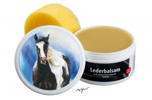 Zwekk© - Leder-Pflege-Set Leder-Balsam 250 ml Pferdemotiv Tinker Sally