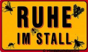 Stallschild: Ruhe im Stall