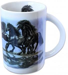Sammler-Keramik-Tasse mit Pferdemotiv Friese 2