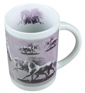 Sammler-Keramik-Tasse mit Pferdemotiv RayPink