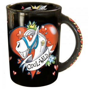 Sammler-Keramik-Tasse mit Pferdemotiv Cool & Wilde