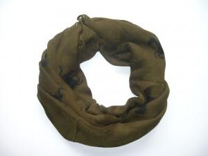 ZWEKK Loop - Schal mit Pferdemotiv, Farbe Grün/Schwarz