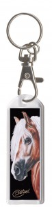 Plexiglas Schlüsselanhänger mit Karabiner und Schlüsselring, Pferdemotiv 23