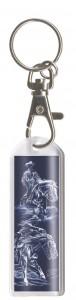 Plexiglas Schlüsselanhänger mit Karabiner und Schlüsselring, Pferdemotiv 12