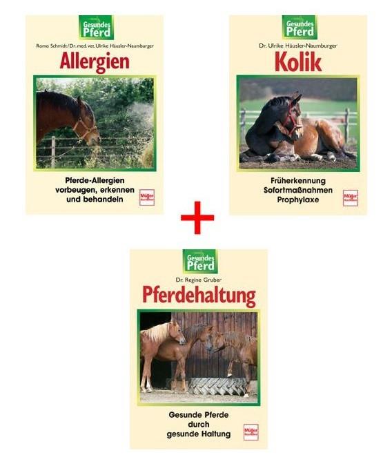 Gesundes Pferd Buchpaket mit 3 Titeln zum Sonderpreis