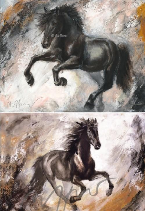 "2 Kunstdrucke Thomas Aeffner ""Leon"" & ""Maximilian"" im Set"
