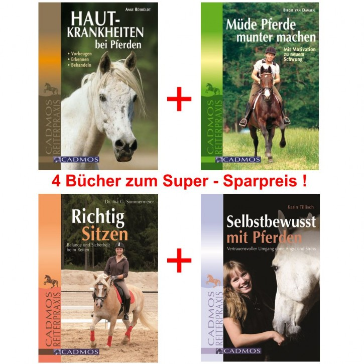 Cadmos Reiterpraxis Buchpaket mit 4 Titeln zum Superpreis !