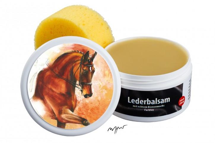 Zwekk© - Leder-Pflege-Set Leder-Balsam 250 ml Pferdemotiv Dressurpferd