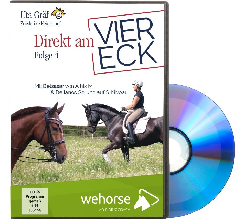 DVD: Uta Gräf Direkt am Viereck 4 - Mit Belsasar von A bis M & Delianos Sprung auf S-Niveau