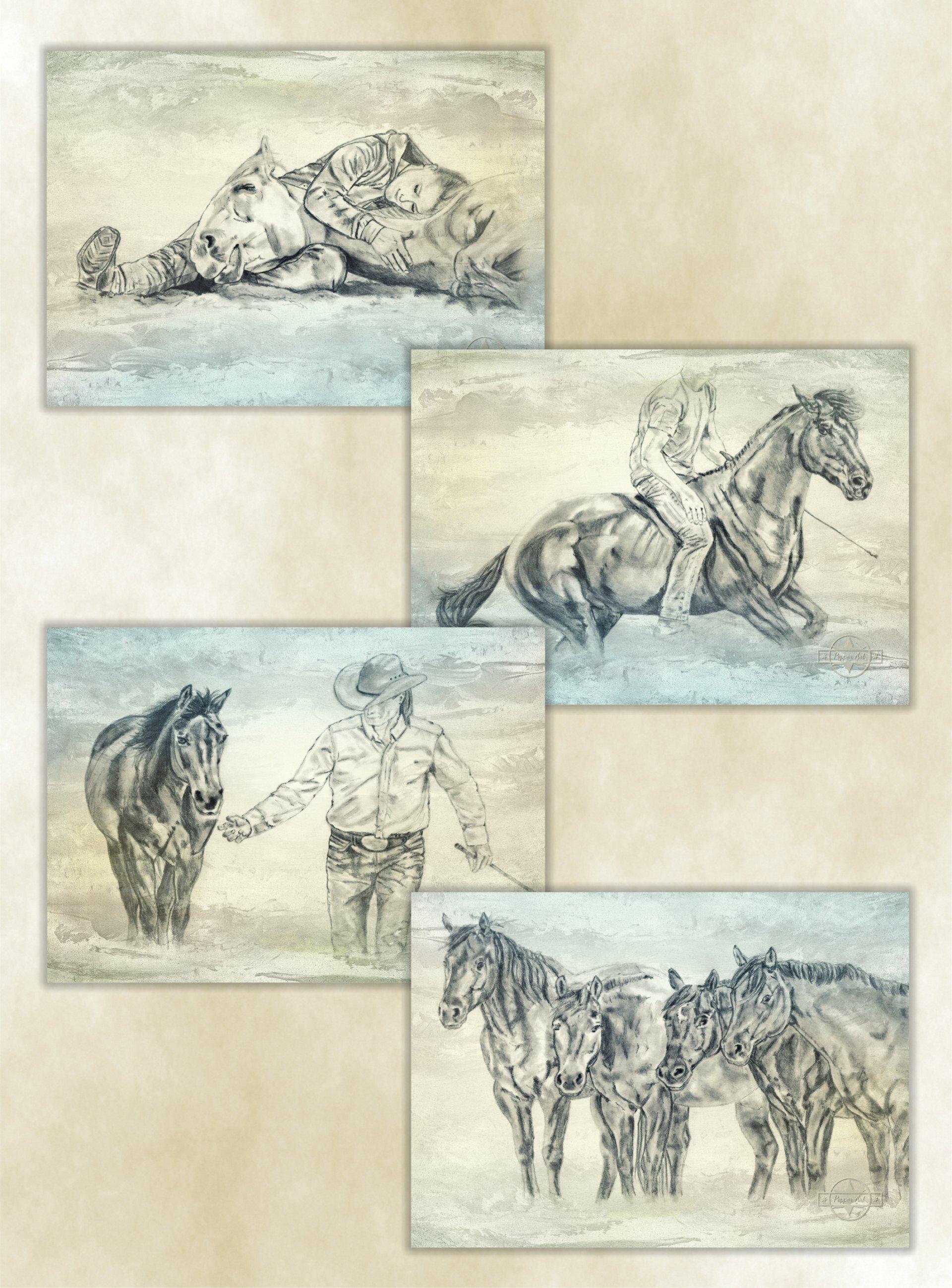 Poster Set Horsemanship - Pepper Art