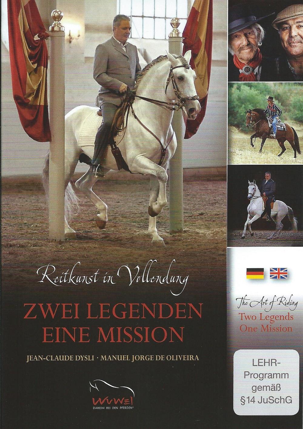 Jean-Claude Dysli/Manuel Jorge de Oliveira: DVD Zwei Legenden - Eine Mission. Reitkunst in Vollendung